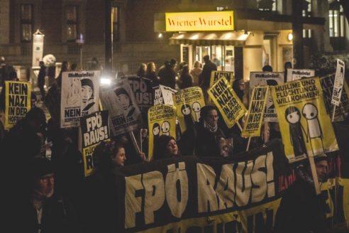 Demo against ´Akademikerball´ Vienna 2017